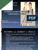 Reforma Vojske i Mediji u Srbiji