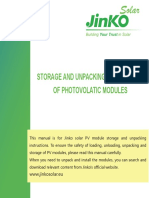 JKS Unpacking and Storage Instruction