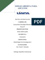 Tarea 4 de Metodología de la Investigación I terminada