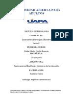 Fundamentos filosóficos e históricos de la educación TAREA 6