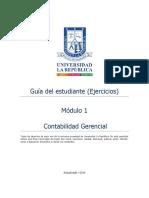 Guia Ejercicios Del Estudiante Contabilidad Gerencial - Módulo 1