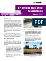 VicRoads - Shoulder Bus Stop Guidelines March 2007