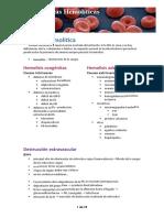 (5) Anemias Hemolíticas