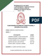 CUESTIONARIO DE DERECHO CONSTITUCIONAL I