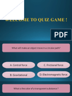 Welcome to Quiz Game !