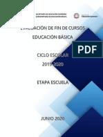 Guía para la Evaluación de Fin de Cursos Etapa Escuela (2)