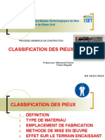 1-CLASSIFICATION DES PIEUX