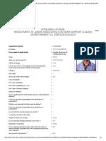 RECRUITMENT OF JUNIOR ASSOCIATES (CUSTOMER SUPPORT & SALES) ADVERTISEMENT NO. CRPD_CR_2019-20_20