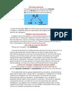 Fórmulas químicas
