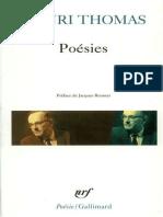 Henri Thomas - Poésies (Poésie_Gallimard)