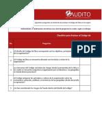 Checklist para Evaluar el Codigo de Etica