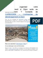 Comment Organiser Votre Déménagement à Dijon Suite Au Déconfinement