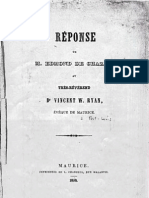 Edmond de Chazal Reponse Au Rev Vincent W Ryan Eveque de Maurice 1858 Swedenborg Et La Nouvelle Jerusalem a l'Ile Maurice Archives Lausanne