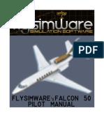 Flysimware's FALCON 50 MANUAL V2.2
