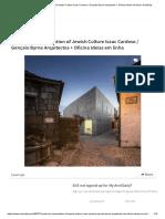 Center for Interpretation of Jewish Culture Isaac Cardoso _ Gonçalo Byrne Arquitectos + Oficina Ideias em linha _ ArchDaily