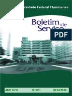 Boletim de serviço da UFF nº 051 de 04-04-2016- mudança de lotação