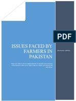 Issues faced by farmers in pakistan