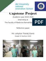gene 1101 internship report