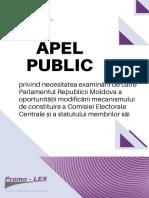 Apel Public Parlament Constituire CEC