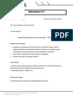Informativo 01 - Apresentação Escolas de Nivel Médio