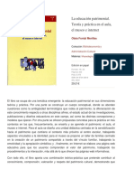 La educación patrimonial. Teoría y práctica en el aula, el museo e internet