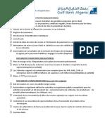 Liste documents - Crédit d'Exploitation