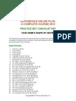 QBO 2019 Practice Set Checklist Key.docx