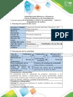 Guía de actividades y Rubrica de evaluación - Tarea 3 - Degradación de suelos.
