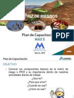Plan de Capacitación Marzo 2019 -Matriz de Riesgos