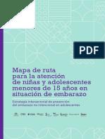 Mapa de ruta para la atención de niñas y adolescentes menores de 15 años en situación de embarazo