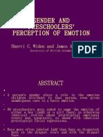 Gender and Preschoolers' Perception of Emotion