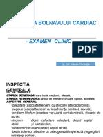 Examenul obiectiv in cardiologie