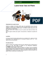 Secretos Para Tocar Jazz e Improvisar en Piano