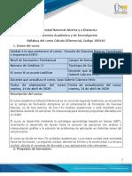 Syllabus curso cálculo diferencial