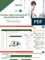 1.1 Formato, estilo  y estructura del aula en línea de la UTM (1)