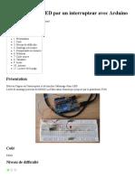 Déclencher une LED par un interrupteur avec Arduino — L'abscisse - FabLab et Hackerspace de Dijon