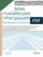 Actividades musicales para niños pequeños. Recursos para la innovación educativa