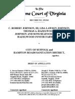 Brief of Appellants, Johnson v. City of Suffolk, No. 191563 (Va. June 11, 2020)