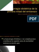 Hemorragia Obstetric A de La Primera Mitad Del Embarazo
