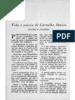 Cultura Politica (RJ) - 1943 - Ed. 32 p. 94-100 - Vida e poesia de C. Jr., por Alvaro F. Salgado