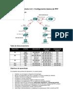Práctica de Laboratorio 2.5.1 - Configuración Básica de PPP