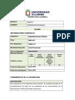 Administracion Publica I - SILABO
