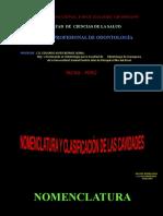 NOMENCLAT. y CLASIFICAC.DE LAAS CAVIDADES