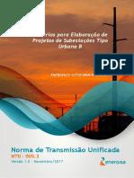 NTU 005.2 -Critérios para Elaboração de Subestação Tipo Urbana B.pdf