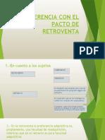 DIFERENCIA CON EL PACTO DE RETROVENTA