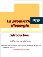 production d'energie