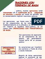Operaciones con transferencia de masa