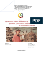 APORTES  DE  LA  CULTURA  HUMANISTA_ LITERATURA, Y EL CINE EN LA COMPRESIÓN DE LA NATURALEZA HUMANA