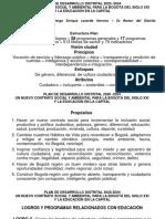 PLAN DE DESARROLLO DISTRITAL 2020 -2024 Y EDUCACIÓN JORGE LAVERDE