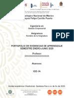 Plantilla de Portafolio General de Evidencias de Aprendizaje ENE JUN 2020